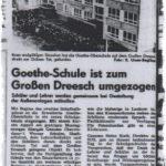 Umzug Goethe-Schule